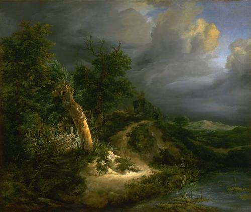 Постер на подрамнике Storm on the Dunes