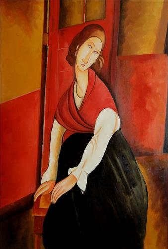 Плакат Portrait of Jeanne Repro