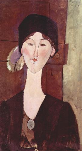 Постер на подрамнике Retrato de Beatrice Hastings ante una puerta