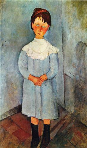 Плакат Little girl in blue