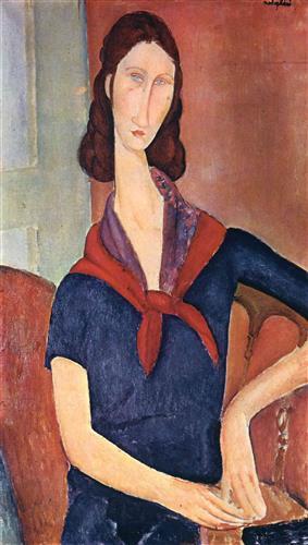 Постер на подрамнике Jeanne Hebuterne (with a scarf)