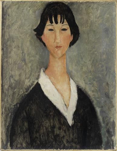 Постер на подрамнике Девушка с черными волосами