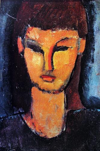 Плакат Head of a young woman