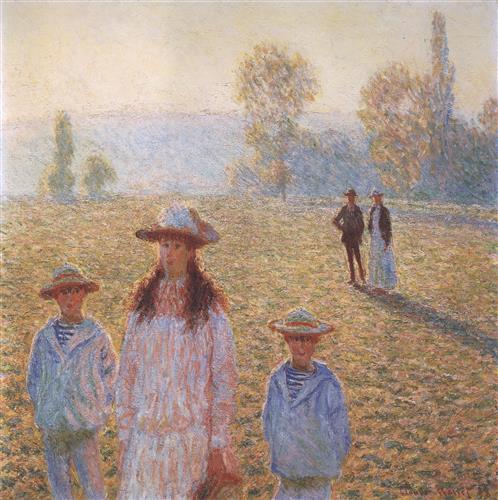 Постер на подрамнике Landscape with Figures, Giverny