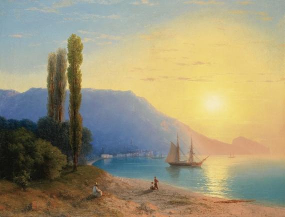 Постер на подрамнике Восход солнца у берегов Ялты