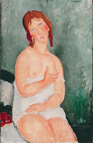 Постер на подрамнике Young Woman in a Shirt (The Little Milkmaid)