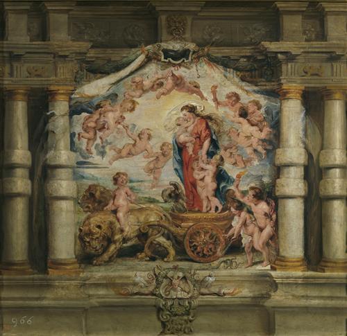 Постер на подрамнике Triunfo del Amor Divino