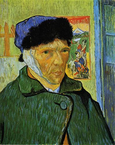 Постер на подрамнике Self-Portrait with Bandaged Ear