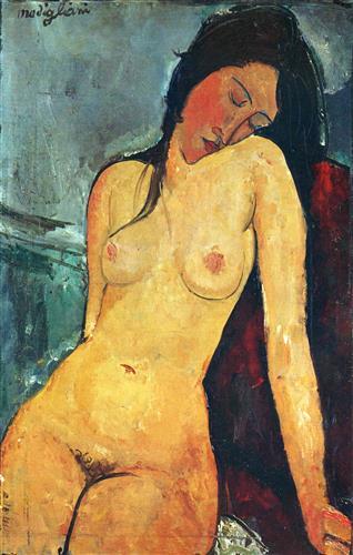 Плакат Seated female nude
