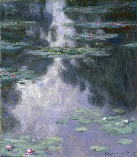 Постер на подрамнике водяные лилии
