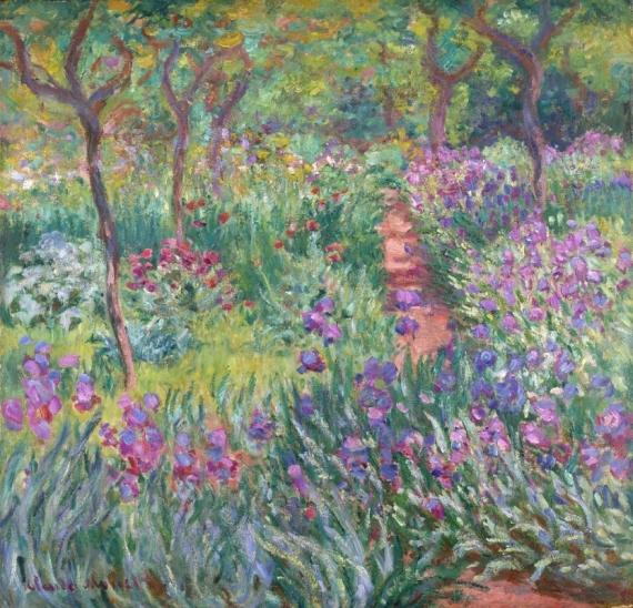 Постер на подрамнике ирисовый сад в Дживерне