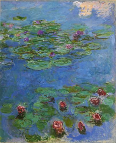 Постер на подрамнике красные лилии