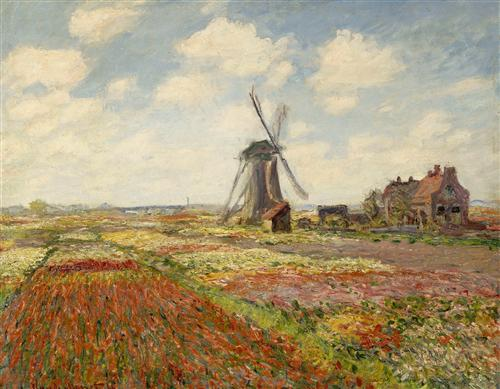 Постер на подрамнике Fields of Tulip With The Rijnsburg Windmill