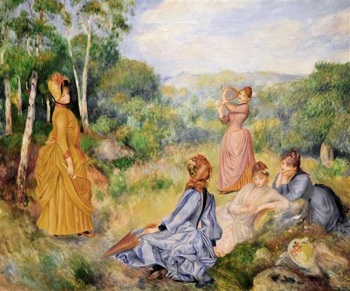 Постер на подрамнике Young Ladies Playing Badminton, 1885