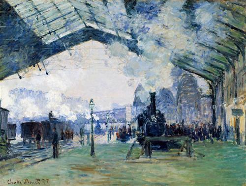 Постер на подрамнике Saint-Lazare Station, the Normandy Train