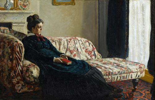 Постер на подрамнике Meditation, Mrs. Monet Sitting on a Sofa
