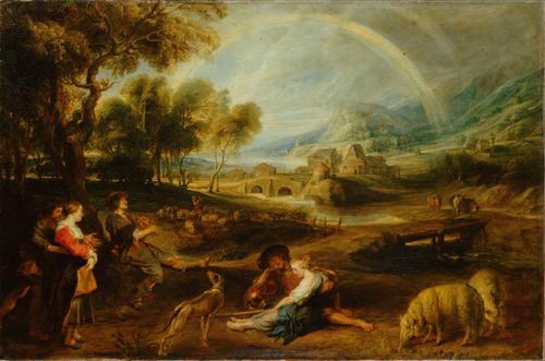 Постер на подрамнике Landscape with a Rainbow