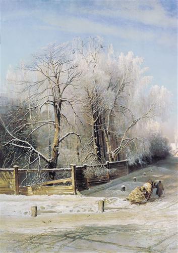 Плакат Зимний пейзаж