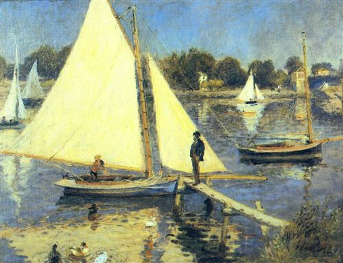 Постер на подрамнике Sailboats at Argenteuil