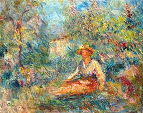 Постер на подрамнике Girl in the Woods