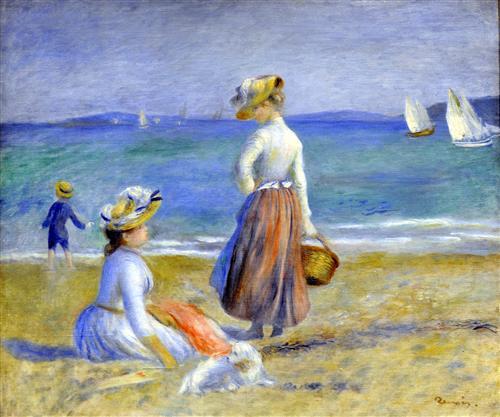 Постер на подрамнике Figures on the Beach