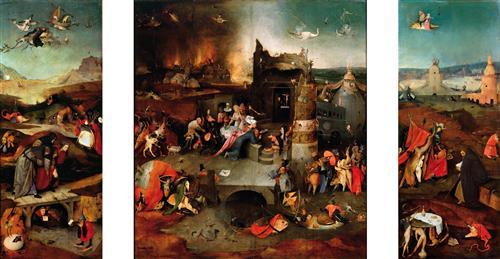 Постер на подрамнике Триптих Искушение св.Антония