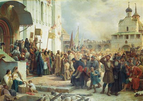 Плакат Осада Троице-Cергиевой лавры