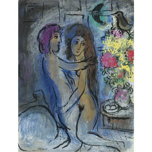 Плакат Le Couple Bleu