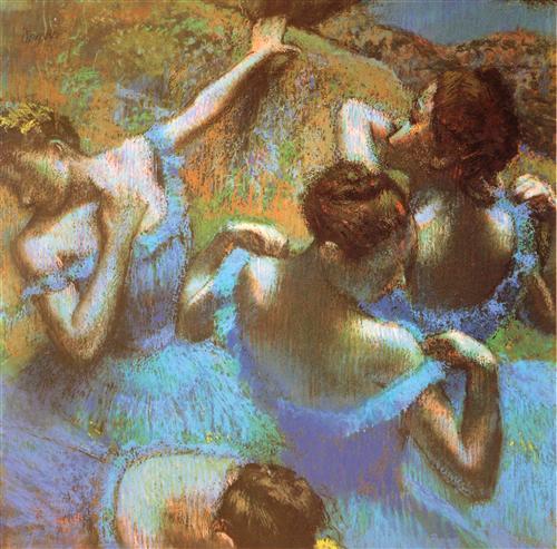 Постер на подрамнике Голубые танцовщицы