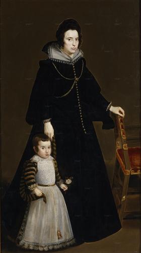 Плакат Antonia de Ipenarrieta y Galdos and her son Luis