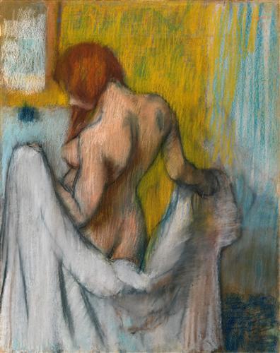 Постер на подрамнике Женщина с полотенцем