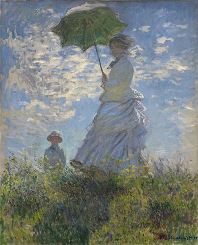 Постер на подрамнике Женщина с зонтиком
