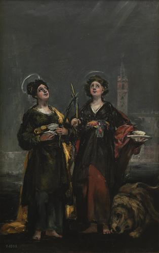 Плакат Saint Justa and Saint Rufina