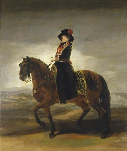 Плакат Queen Maria Luisa on Horseback