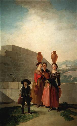 Постер на подрамнике Young Women with Pitchers