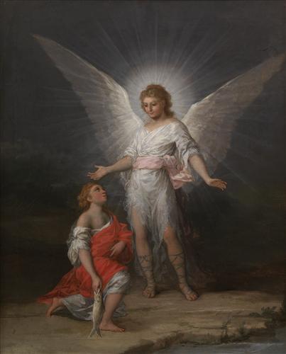 Постер на подрамнике Tobias and the Angel