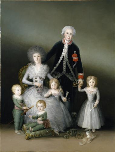 Постер на подрамнике The Duke and Duchess of Osuna and their Chldren