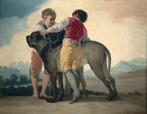 Плакат Boys with Mastiffs