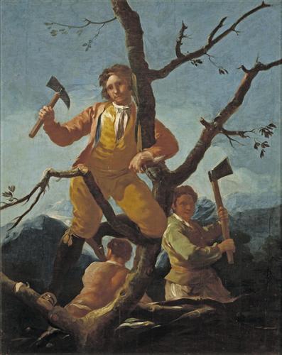 Постер на подрамнике The Woodcutters