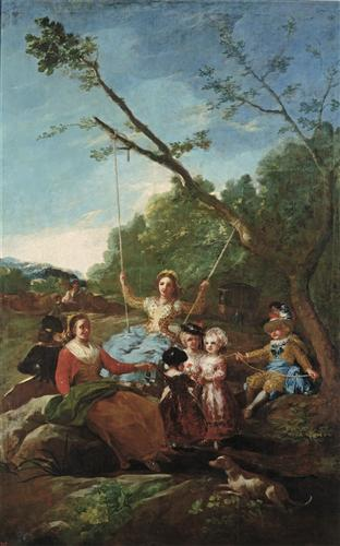 Постер на подрамнике The Swing