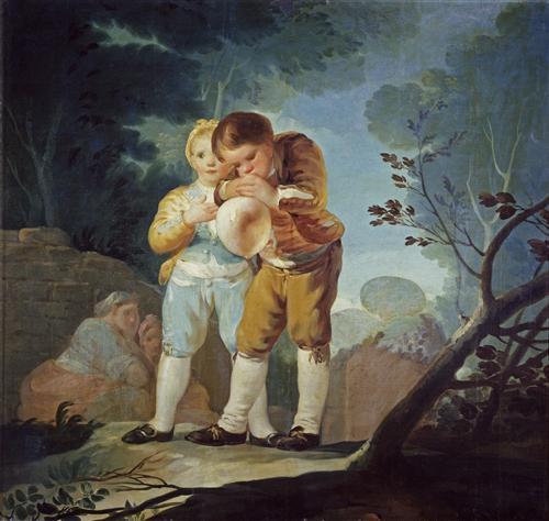 Постер на подрамнике Boys Inflating a Bladdes