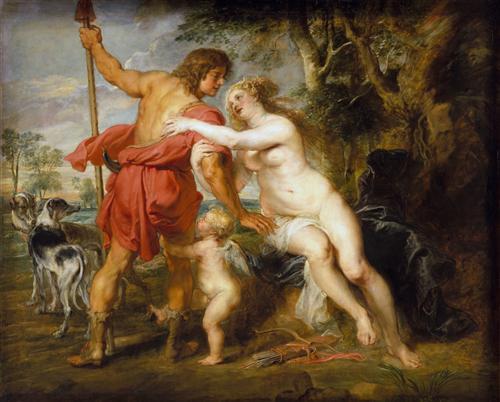 Постер на подрамнике Венера и Адонис