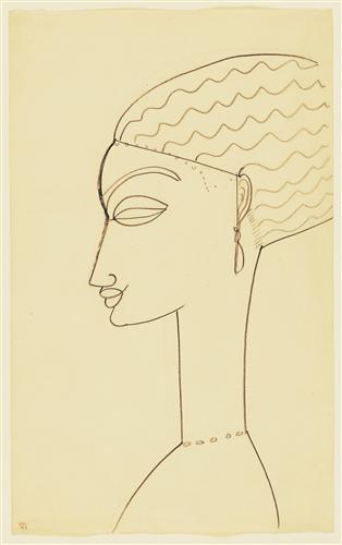 Постер на подрамнике Woman in Profile