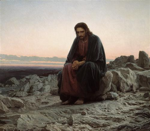 Плакат Христос в пустыне