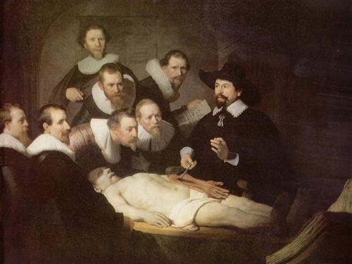 Постер на подрамнике Урок анатомии доктора Тульпа