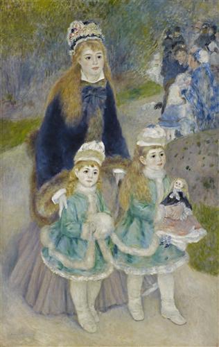 Постер на подрамнике Madame Georges Charpentier and Her Children at park