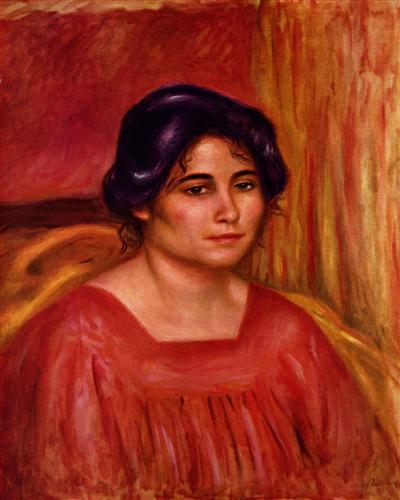 Постер на подрамнике Габриэль в красной блузе