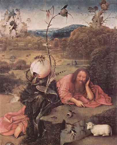 Плакат Св. Иоанн Креститель в пустыне