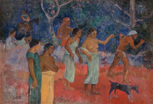 Плакат Scene from Tahitian Life