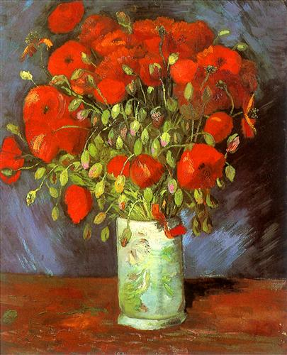 Постер на подрамнике Vase with Red Poppies